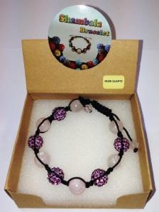 Shambala Armband - violet roze quartz
